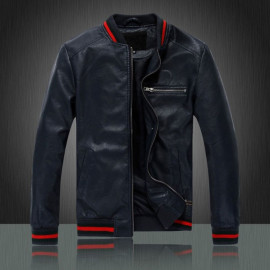 BLUE MEN'S MOTORCYCLE LEATHER JACKETS FOR SALE