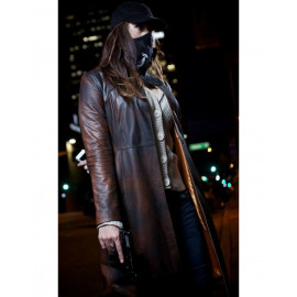 Watch Dogs Aiden Pearce coat in Distressed Leather Coat