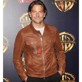 A Star Is Born Bradley Cooper Leather Brown Jacket