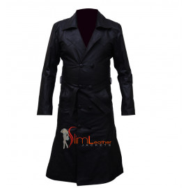 Buffy the Vampire Spike Trench Long Coat Leather jacket
