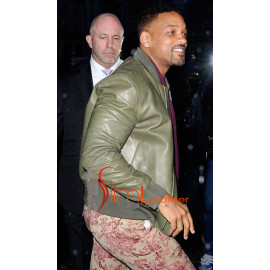 Wil Simth Rocking Green leather jacket