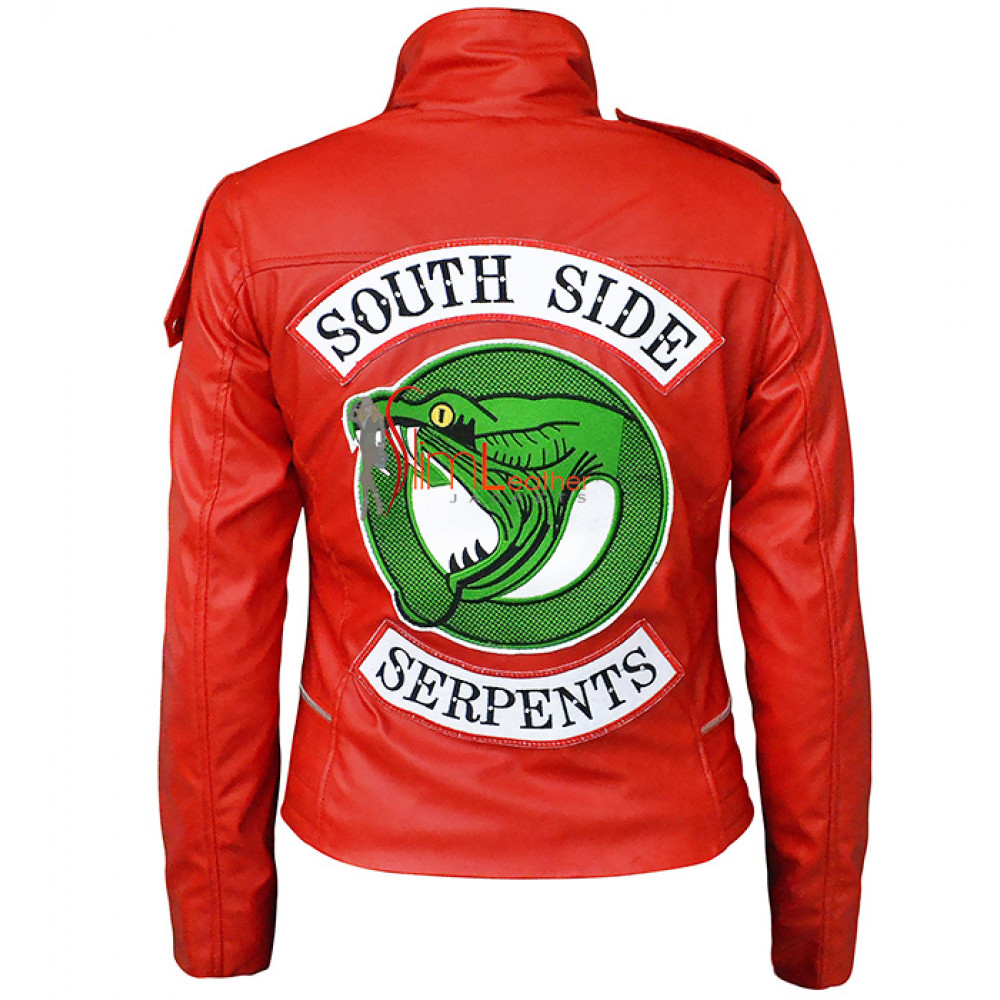 Cheryl Blossom Madelaine Petsch Southside Serpents Red Leather Jacket