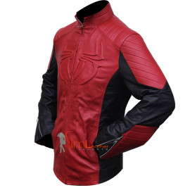 Spider-man Black & Red Combination Leather Jacket
