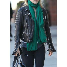 Ali Larter in Burberry Prorsum Quilted Leather Biker Jacket