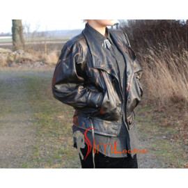 Classic Batwing Leather  Jacket