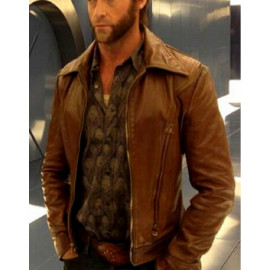 X Men Days of Future Past Brown Leather Jacket